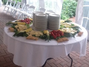 Smithsonian Caterers table